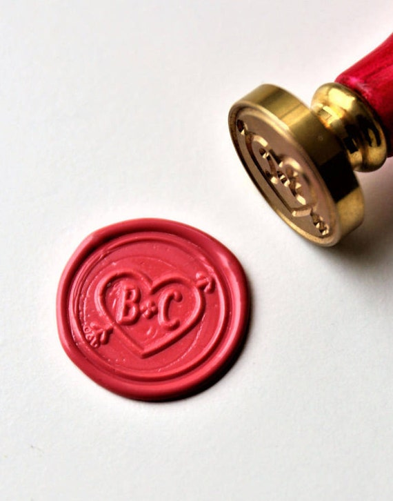 Personalized Monogram Wax Seal Stamp Initials Custom Wedding