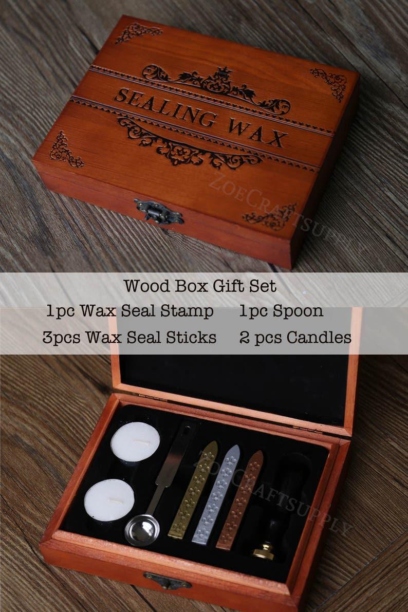 Sun and Moon  wax seal stampSun and Moon sealing stamp  wax sealing kit Custom wedding sealsinvitation seal