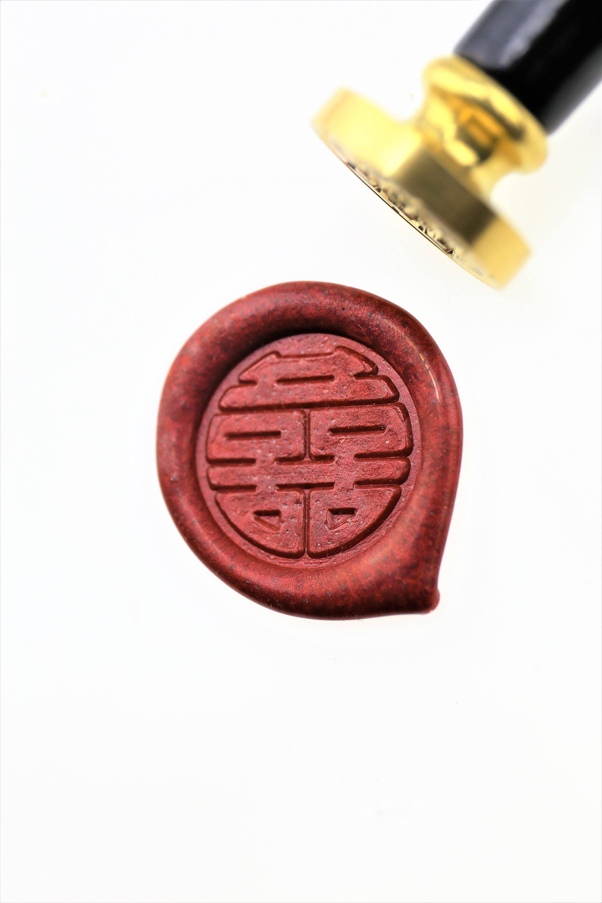 Double Happiness Wax Seal Stamp/Chinese Wedding invitation | Etsy