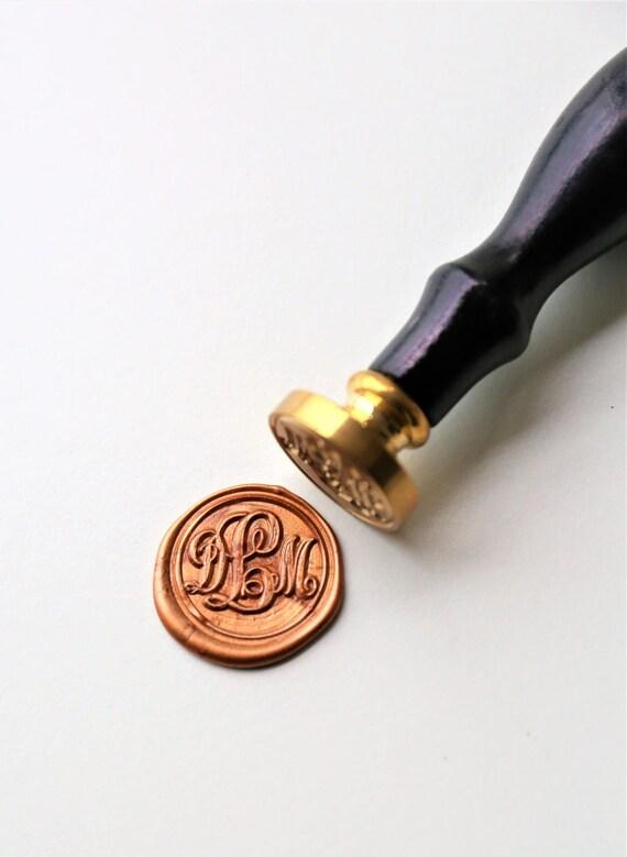 Personalized Monogram Wax Seal Stamp Triple Initials Custom