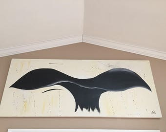 Whale Tail Oil on Canvas
