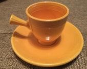 Demitasse cup and saucer Fiesta Fiestaware Yellow Vintage