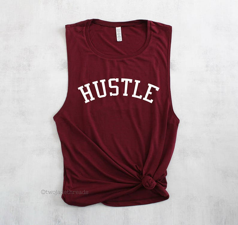 Hustle muscle tank top shirt trendy gym tank top cute gym