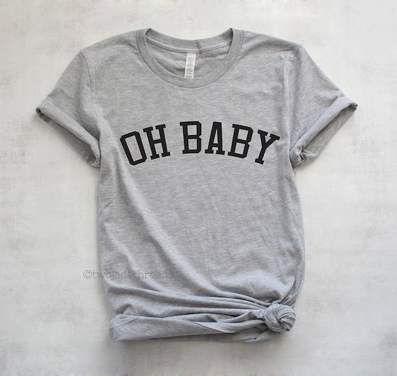 32285de0d2664 Oh baby maternity shirt pregnancy announcement tshirt cute   Etsy