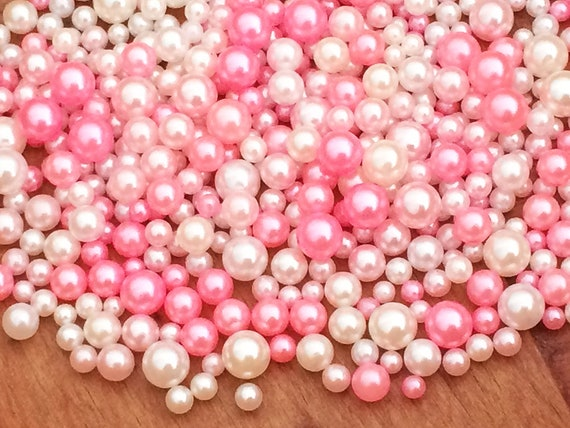 Small Pack 2mm 1000pcs Multiple Colors No Hole Round Pearls Nail Art Decorations