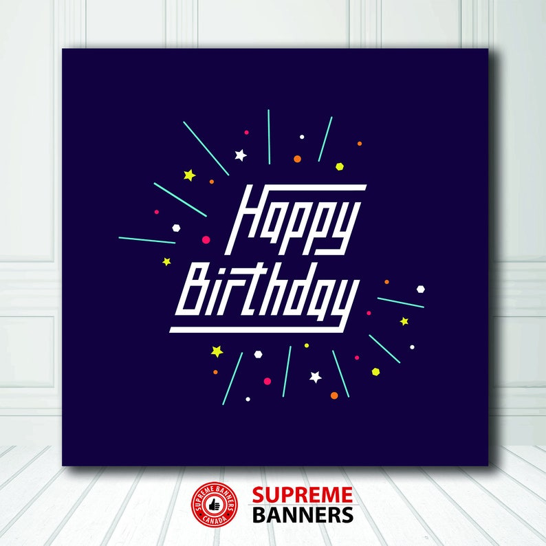 FREE SHIPPING Customize Birthday Photo Backdrop Game Style Photo Booth Backdrop Birthday Backdrop DigitalVinyl Printed Product