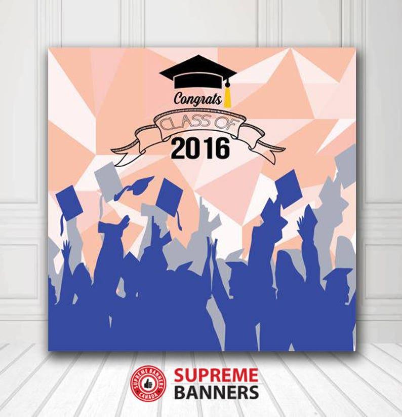 459b954726 Graduation Backdrop - Customize Graduation Photo Backdrop - Graduation  Photo Booth Backdrop - Digital/Vinyl Printed- Free Shipping in CANADA