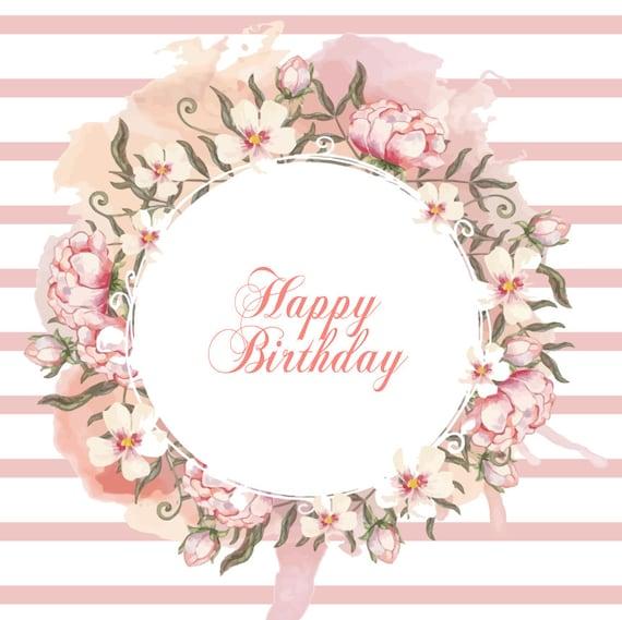 Customize Birthday Photo Backdrop Birthday Backdrop Rose Gold Theme Backdrop -DigitalVinyl Printed FREE SHIPPING