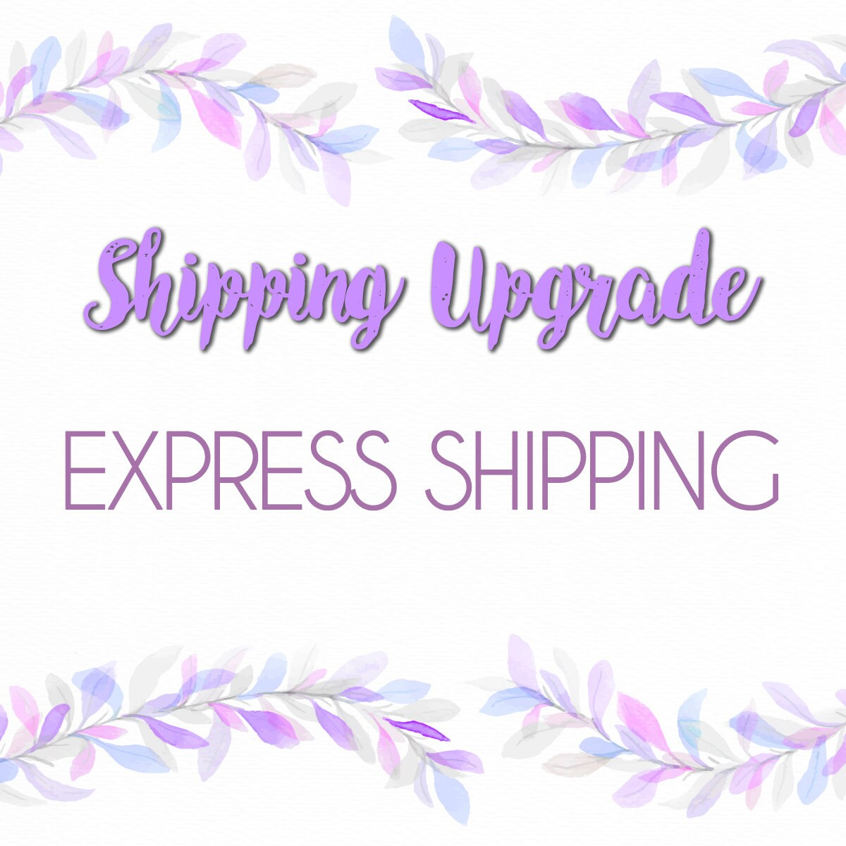 Shipping Upgrade to EXPRESS Via Fedex/UPS/Purolator | Etsy