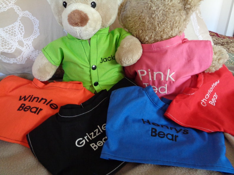 d39beb22d66 Personalised shirt to fit Build a bear or 30cm sitting teddy