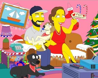 Christmas Decoration, Personalized Christmas, Christmas Family Portrait, Christmas Ornament, Christmas Decoration, Christmas Idea