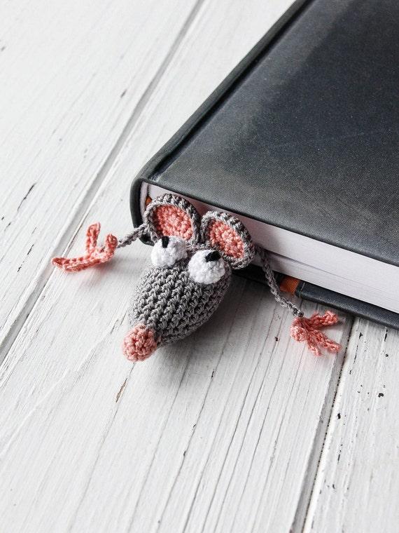 Ratte Lesezeichen Häkeln Maus Maus Gestrickt Häkeln Etsy
