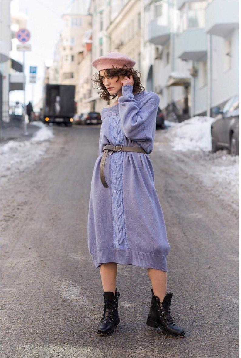 f68ace7e21 Knitted maxi dress Long knitted dress Oversized knit dress