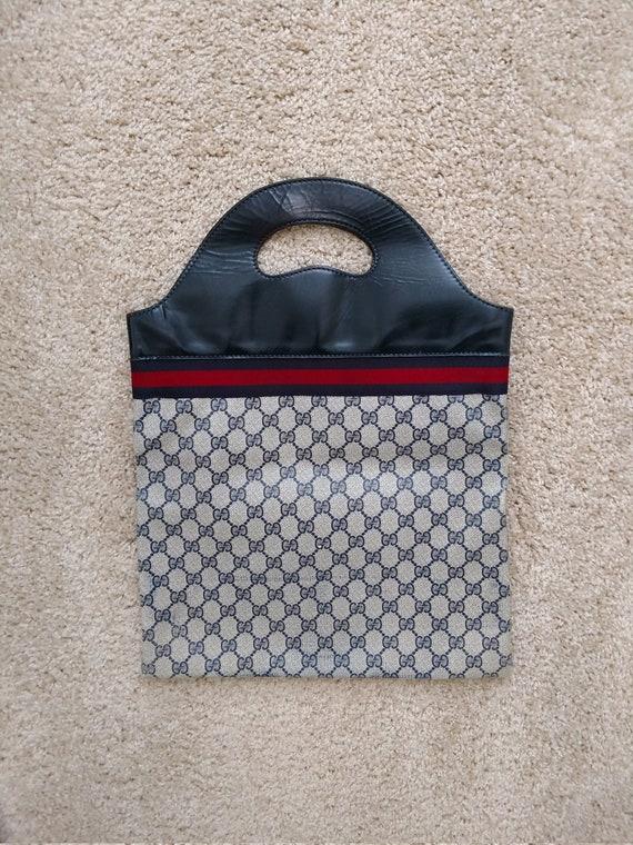 02dff54dc Classic Sherry Line Vintage Gucci Clutch Tote Shopper Handbag | Etsy