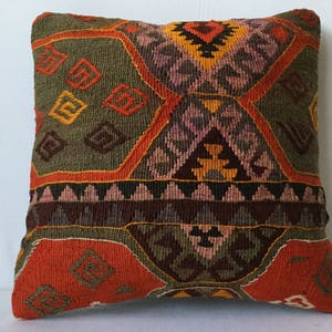 40x40 cm 16x16 inches,Kilim Pillow,Antique Pillow,Carpet Pillow,Moroccon Pillow,Decorative Pillow,Throw Pillow,Bench Pillows,Rug Pillows,Rug