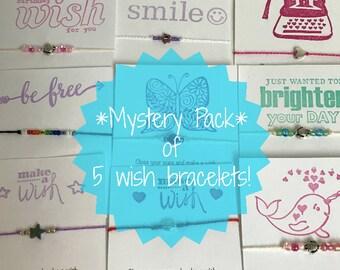 mystery grab bag of 5 wish bracelets