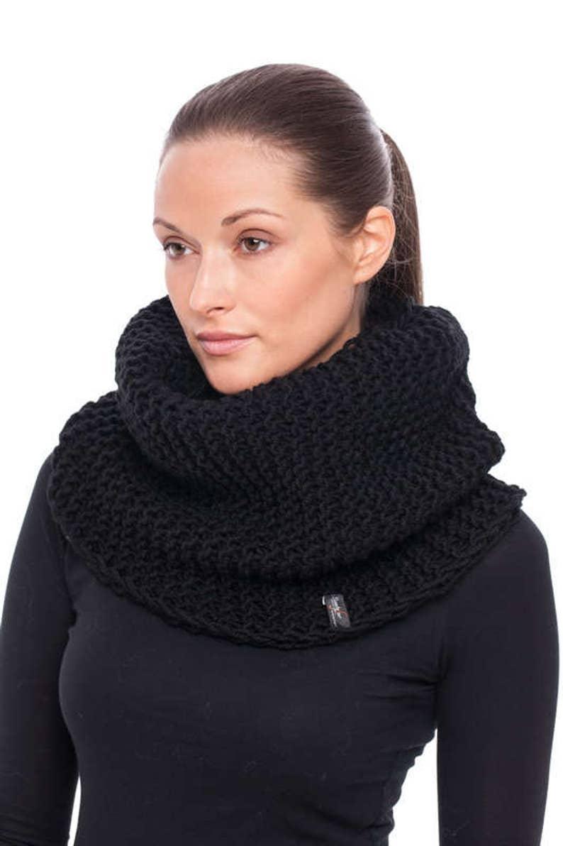 Handmade black wool cape