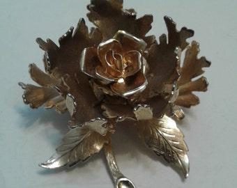 Warner New York Articulated Blooming Rose Brooch