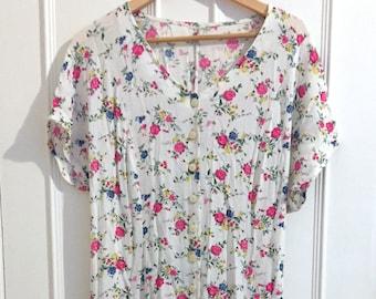 Long 90's Floral Dress
