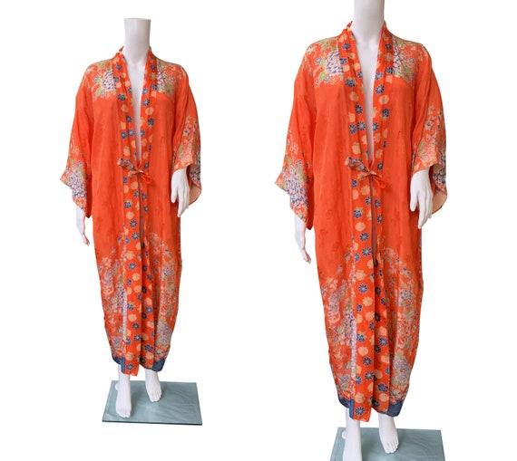 SOLD - 1930s Rayon Blend Kimono Jacket