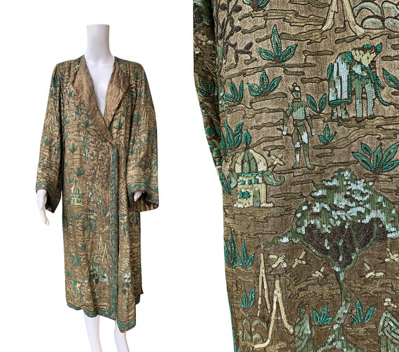 SOLD - 1920s Beaded and Sequinned Lamé Coat Attrib