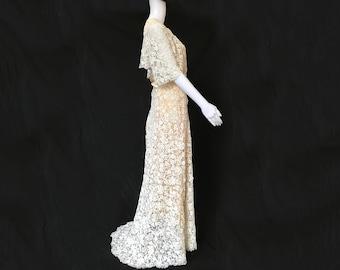 Late 19th-Century Irish Crochet Dress