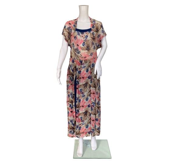 1930s Silk Chiffon Dress - image 2