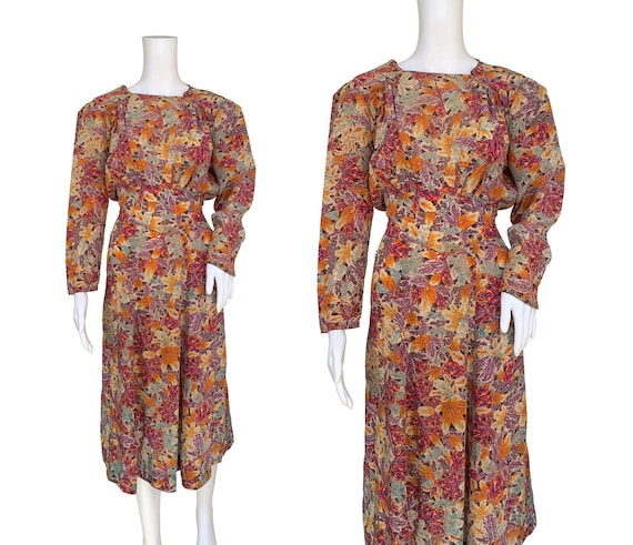 1940s Print Dress