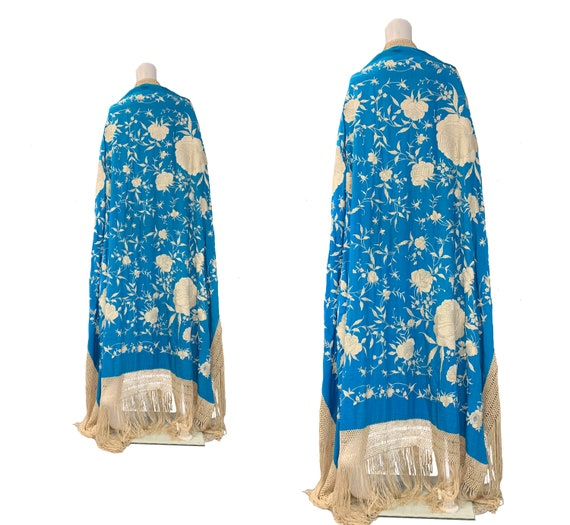SOLD - 1920s Embroidered Shawl