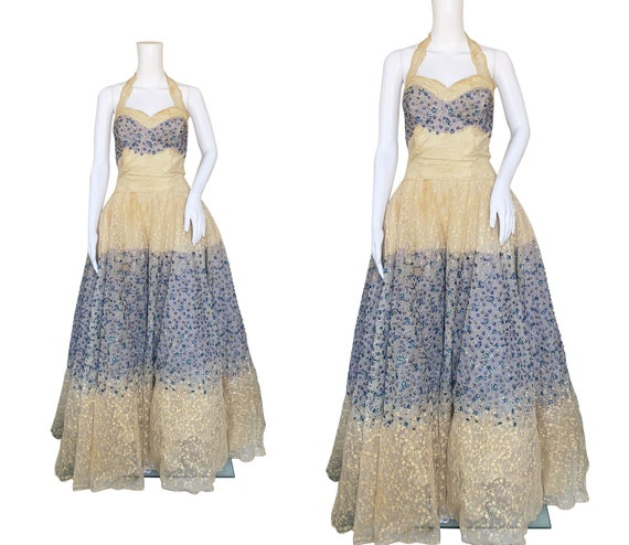 1950s Norman Hartnell Couture Dress