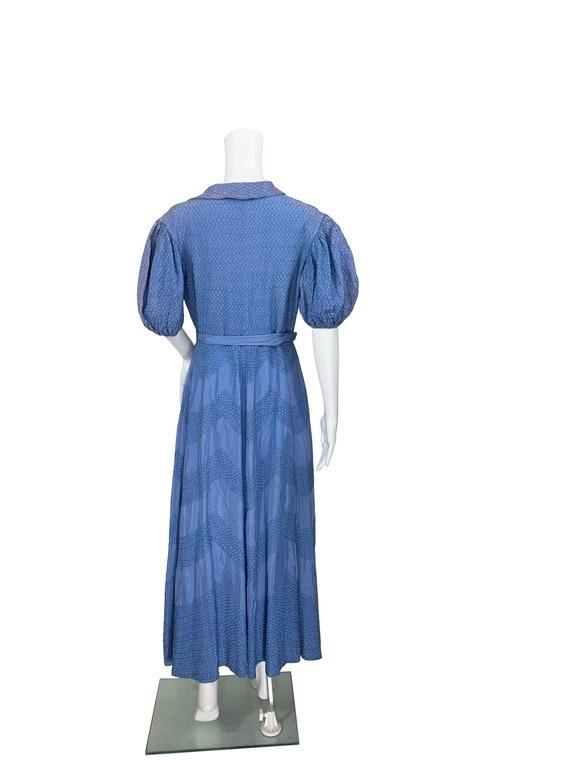 1940s Textured Taffeta Coat - image 3