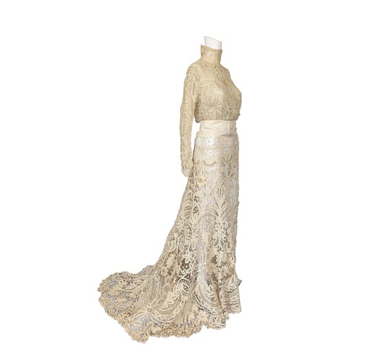 Edwardian Tape Lace Wedding Dress