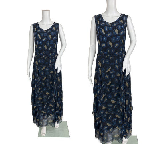 1930s Silk Chiffon Dress