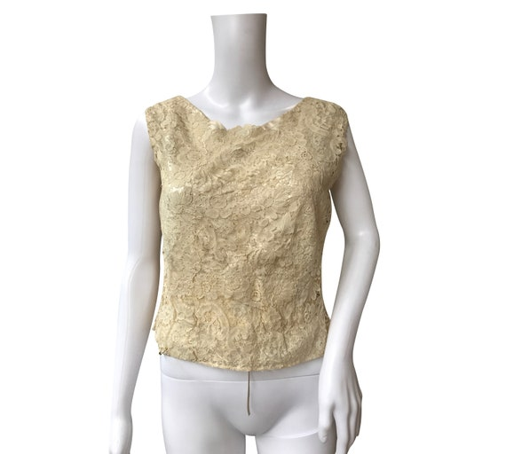 1930s Brussels Lace Top