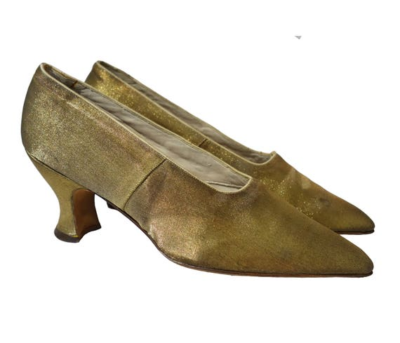 1920s Gold Lamé Shoes