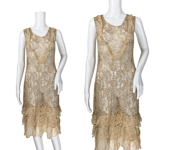 1920s Lace Dress - image 1