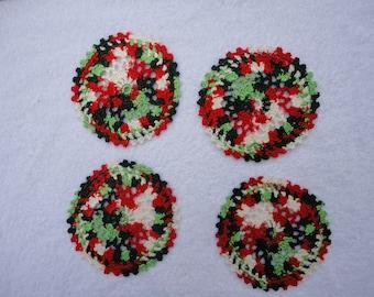 Christmas Coasters Doilies Set of Four