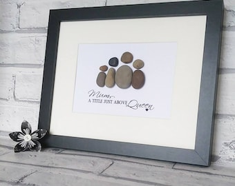 Pebble Art, Pebbles, Pebble People, Pebble Family, Frame, Special, Gift, Personalised, Special Gift, Unique, Family, Love, Couple, Birthday