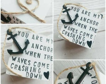 Anchor, Block, Nautical, Boat, Ship, Quote, Decorative Friend, Special, Gift, Love, Unique, Keepsake, Wooden, Rustic, Decor, Couple, Meaning