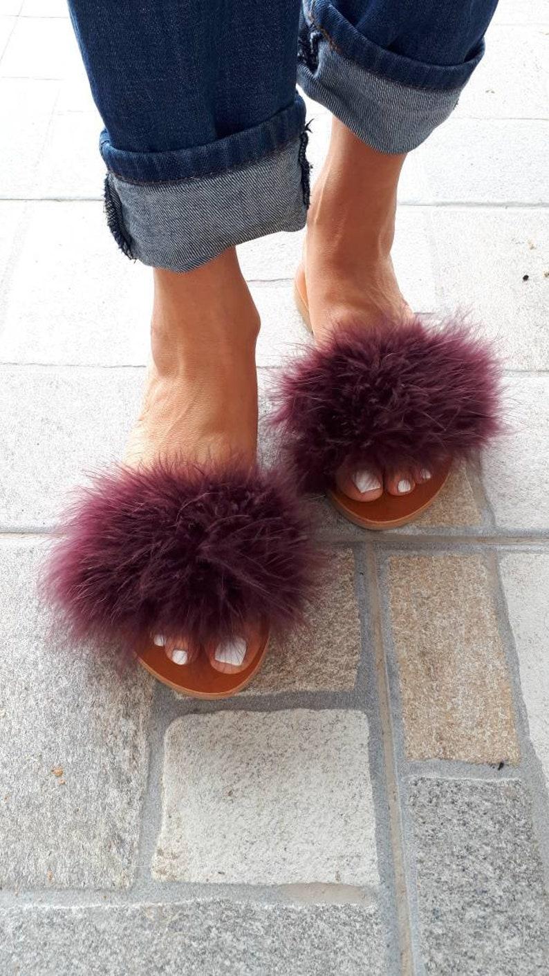 bbf60e8c9bd8 BONJOUR MON AMI greek handmade leather slipper sandals slides
