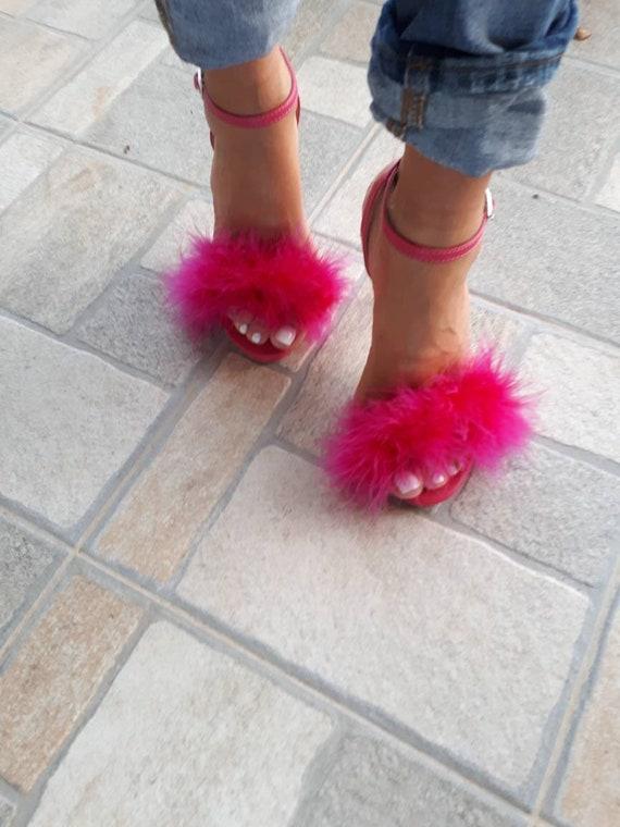 Greek handmade sandals high heels ankle