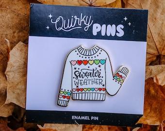 Sweater Weather Enamel Pin