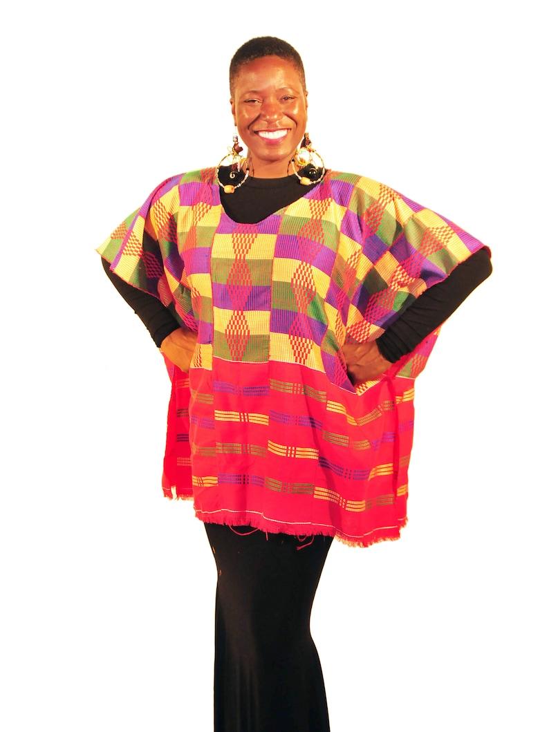ALKEBU-LAN Kente Cloth Poncho