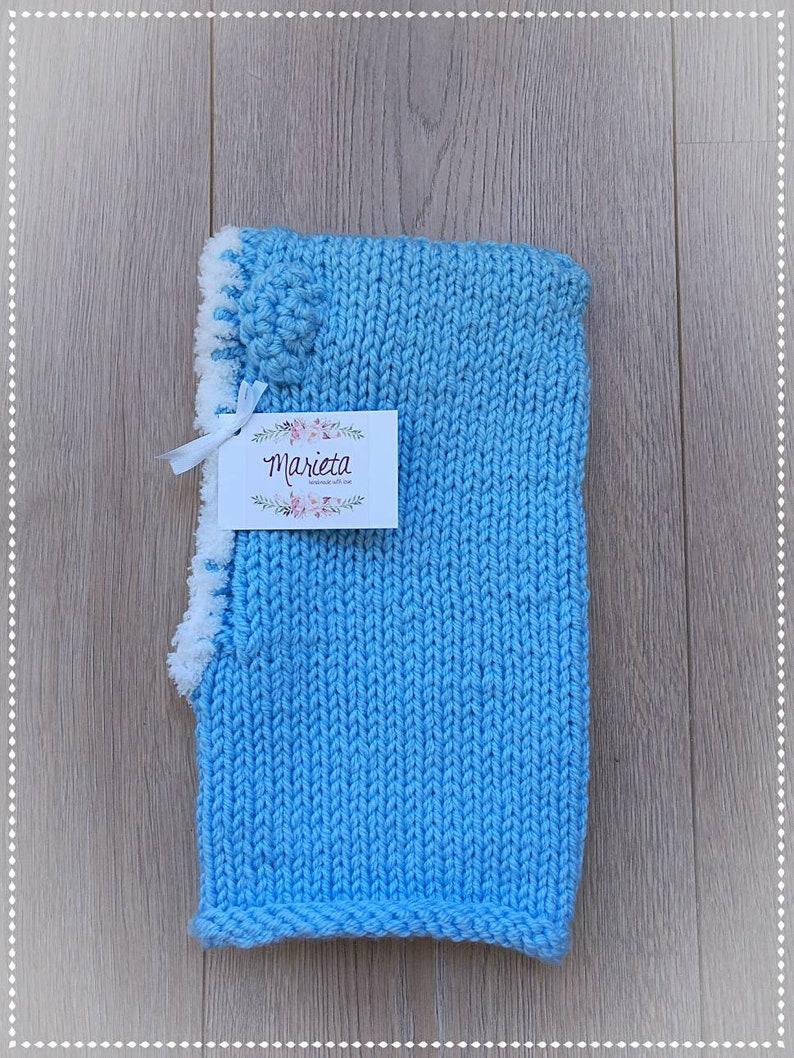 Pasamontañas de lana azul. Gorro niño invierno. Gorro invierno  425930b479b