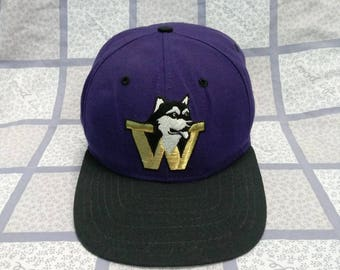90s Washington Huskies Football Cap Hat f594c6f54