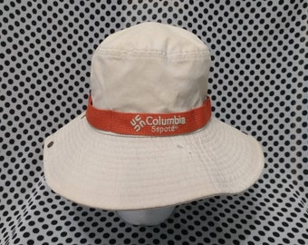 f4309f5c1c2312 Vintage Columbia Bucket Hat, Fashion stylish Swag, Outdoor street wear,  Summer style, Retro Wear, Golf Hat, Polo Wear, Made In Korea