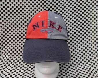 Vintage NIKE Cap Hat  Denim Colour Block Spell Out Big Logo  Outdoor street  Wear Swag Fashion  Baseball Snapback Hat  Adjustable fits 29ddad2dfc67