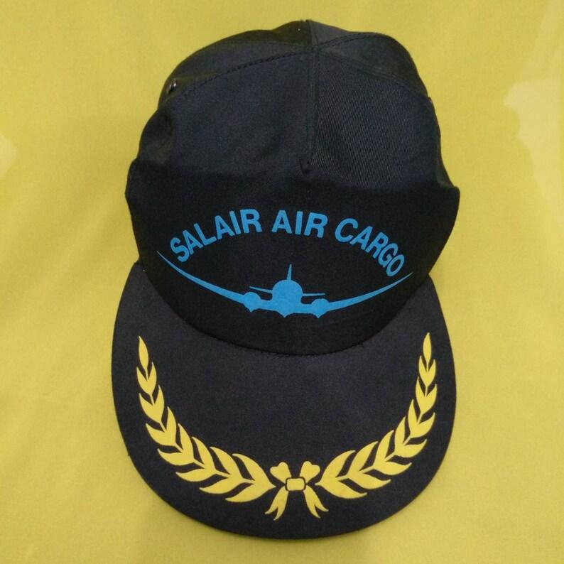 6553c175627b0 Vintage Salair Air Cargo Cap Hat Solair Airlines Airlines