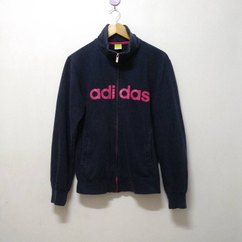 4d838e00f0a22 Vintage Adidas Jacket, Spell Out Track Jacket, Sports Warm Up Jacket, Boho  Hipster Athletics, Outdoor street wear, Adidas Zip Up, Size M