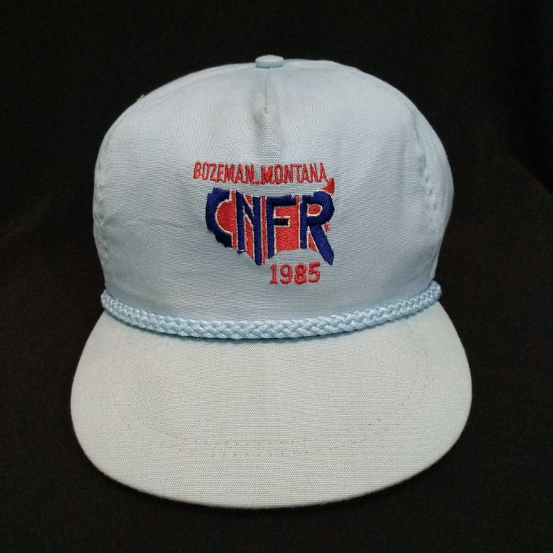 14a13aff48c Rare Vintage 1985 CNFR BOZEMAN Montana Cap Hat Montana state
